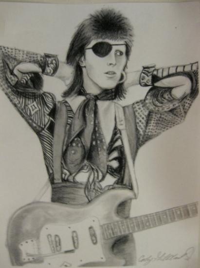 David Bowie por CarlyGilliland
